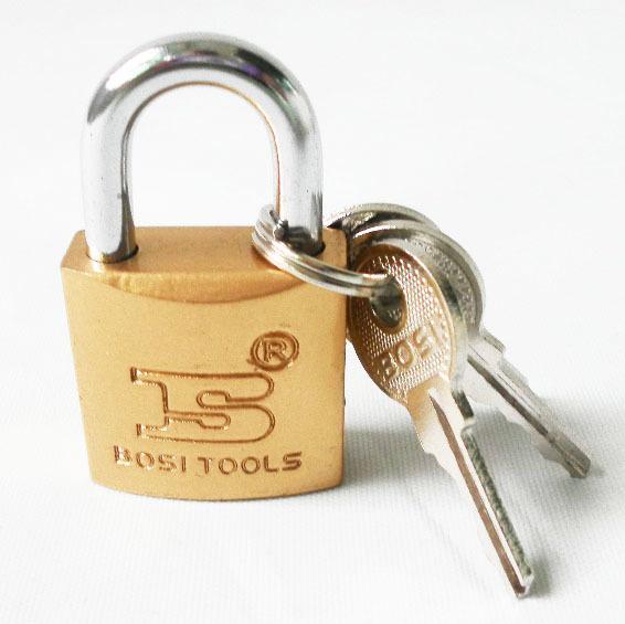 Free shipping BOSI 25mm case bag padlock master lock with 3pc keys(China (Mainland))