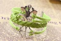 Butterfly Lucky Clover Bracelet Infinity Bracelet Jewelry