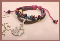 Pirates Of The Caribbean Anchor Personalized Bracelet Jewelry