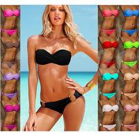 15 Color Women Sexy Leopard Bikini Set 2014 New Push up brand bikinis Zebra swimwear swimsuit the cheap bathing suits beach wear