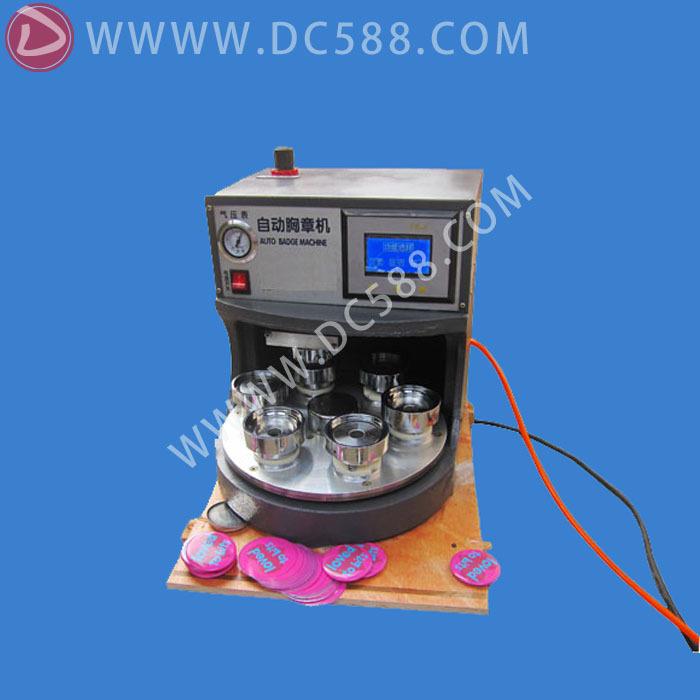 [ Venda direta da fábrica ] máquina crachá automática pneumática Bagde pin máquina emblema máquina da imprensa montadora -001(China (Mainland))