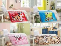 Free shipping bag to sleep100% cotton 2014 brand baby bedding set High quality baby newborn cartoon blanket 100*140cm 8color 074