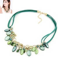 National Style Flower Statement  Necklaces 2015 New Fashion Women  Choker Necklace Colar Necklaces  Teardrop Pendant Jewelry