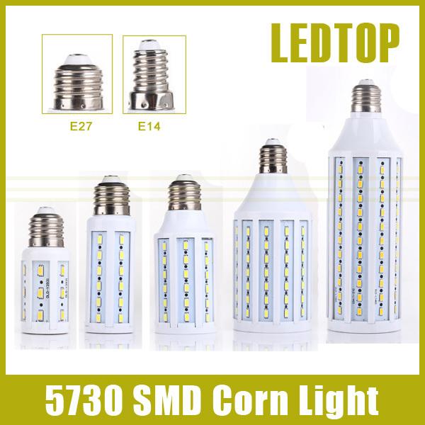 1Pcs CE E27 E14 5730 5630 SMD LED Corn Bulb AC 220V AC 110V 5W 7W 12W 15W 25W 30W 40W 50W High Luminous Spotlight LED lamp light(China (Mainland))
