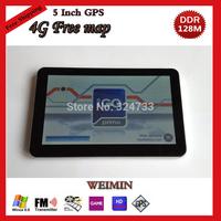 5 inch  Car GPS Navigator,FM,DDR128M,MTK,WINCE6.0,4GB,with free map, Portable Car GPS Navigator