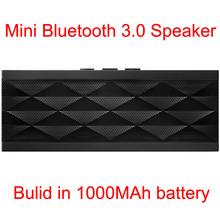 High Quality Jambox Jawbox style HIFI mini portable wireless bluetooh BT3.0 Speaker with Rechargeable Battery with Handsfree Mic(China (Mainland))