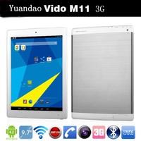 "Original Yuandao Vido M11 9.7"" 3G Phone call Quad Core phablet tablet PC RK3188 IPS Retina 2GB 16GB Android 4.2 8.0MP Camera"