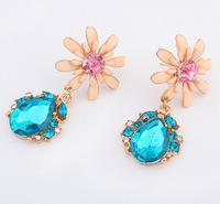 Sweet Teardrop Earrings Cute Floral Drop Earrings Fashion Statement Earrings  cxt904414