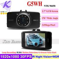 New Novatek 96650 Car DVR Camera Registrar 1080P Full HD WDR w 170 Degree Wide Angle IR Night Vision G-sensor Motion Detection