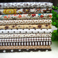 48x48cm 11 pcs/lot Coffee Brown Cotton Fabric Quilting Patchwork Kids Bedding Textile For Sewing Material Cloth For Tilda Doll
