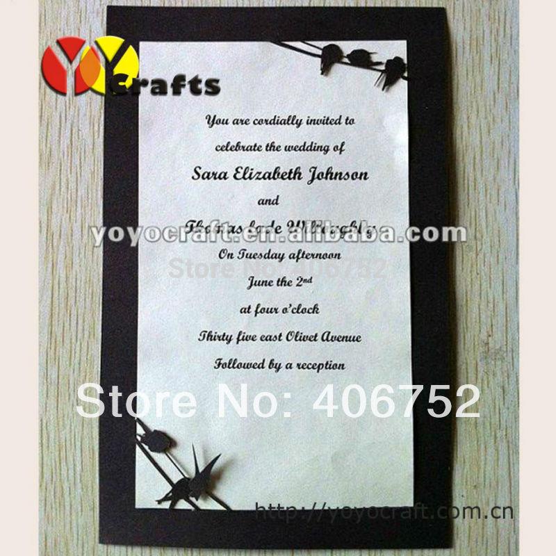 little birds design decoration menu card kinds of wedding program card invitation card(China (Mainland))