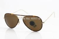 2014 New Brand Name Sunglass Designer Sunglass Men/Woman's Fashion 3025-JM AVIATOR FULL Green Sunglass Green Gradient Lens 58mm