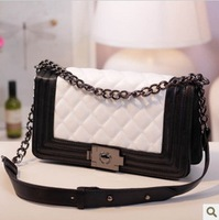 Europe & America Style women's handbag chain cover small leather shoulder bag candy female dimond plaid messenger bags ladies