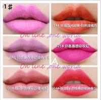 5pcs /lot Makeup Lip gloss matte 36 colors waterproof lip gloss make up red pink colorful lipstick free shipping