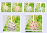 7 inch Wedding Artificial Foam Rose Kissing Ball Flower Pomander Bouquet Ball Wholesale accepted