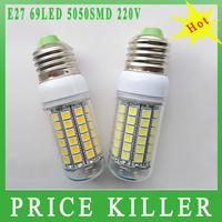 2014 Ultra bright new arrival SMD 5050 15W E27 LED corn bulb lamp, 69LEDs, Warm white / white,5050SMD led lighting,free shipping