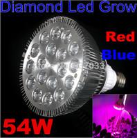 Full Spectrum E27 85-265V High Power 12Red 6Blue 54W LED Grow Lights for Flowering Plant Hydroponics System Led Spot Bulbs Light