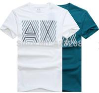 AJ EA 2014 Male Slim Fit Short Sleeve T-Shirt Men's Famous Brand O-Neck Tshirt Men Tshirt Cotton 3D Tee Shirts