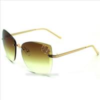 2014 butterfly ornament frameless sunglasses wholesale fashion glasses