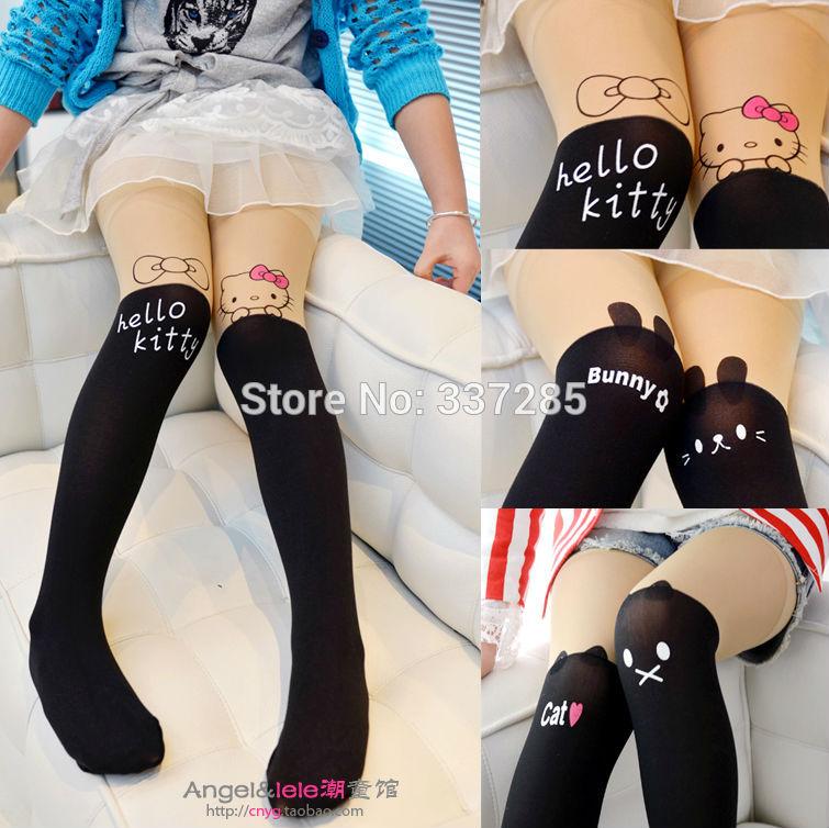 2014 nuova moda free shopping dei bambini collant collant carino dei bambini tatuaggio incantevole collant stretto per belle ragazze bambino stretto