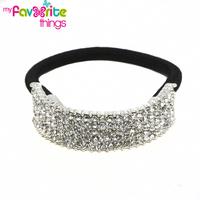Designer Fashion Elastic Rhinestone Hairtie Ponytail Holder Handband Jewelry Accessories For Women Girls Hair band Free Shipping