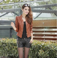 Chinese cabbage fashion spring women's leather clothing short design female slim outerwear