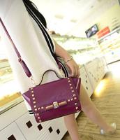 2014 vintage rivet bag envelope bag one shoulder handbag messenger bag fashion handbag women's punk small bags