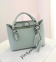 2014 New Real Flap Pocket New2014desigual Women Messenger Bags Leather Handbags Vintage Bag One Shoulder Tassel Handbag Women's