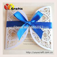 ivory heart simple and elegant wedding invitations handmade wedding invitation card