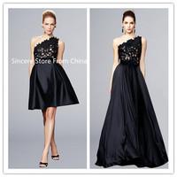 One shoulder design short lace dress party e2443