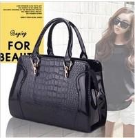 2014 Fashion women's handbag crocodile pattern married bridal bags one shoulder women messenger bag Free Shipping