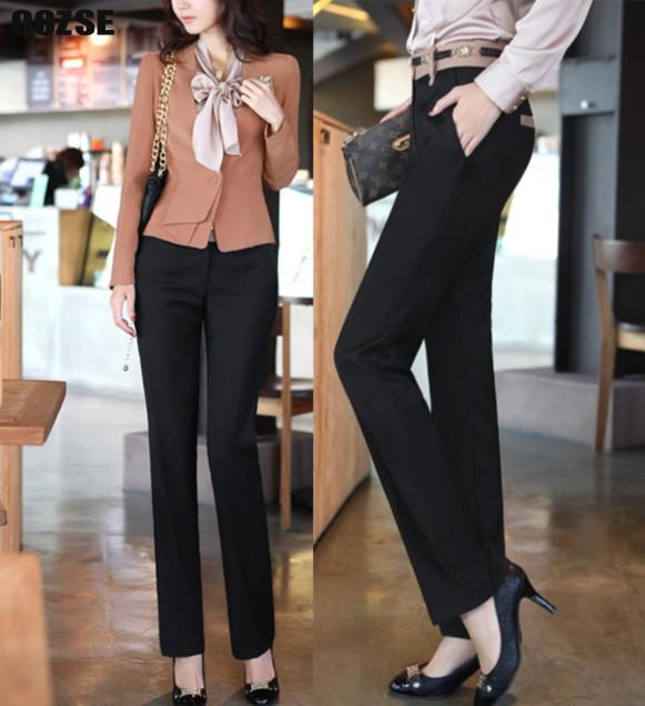 2014 new pants fashion OL. women pants slim straight pants trousers women free shipping e156(China (Mainland))