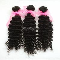 Peruvian virgin curly hair 3pcs lot  100 human hair perfect hair extensions natural black wholesale prce Free Shipping