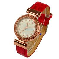 Fashion Women Ladies Rhinestones Analog Quartz Dress Watches Clock 2014 Female relogio masculino Leather Casual WristWatches