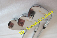2014 Hot Sale SM5 Golf Wedge Set 52 / 56 / 60 Degree With Steel Shaft Golf Wedge Clubs Silver Color 3PCS