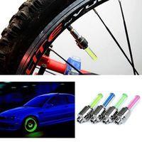 Smart 4X lots MIX COLOR LED Flash Light Neon Lamp Night Bike Car Tire Tyre Wheel Valve Caps