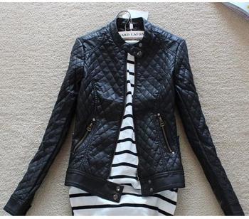 2014 Big Brand Winter Coat Женщины Cool Модный Slim Outerwear Короткий Design Plaid ...