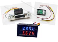 Dual display Meter LED Digital Tube DC 0-100V DC100A  Motorcycle DC Amp Meter Volt Meter Voltmeter Ammeter 2 in 1 Panel Meter