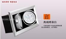 14w led bean pot lamp single head double slider adjustable 14w led ceiling spotlight led grille  360 degree rotation(China (Mainland))