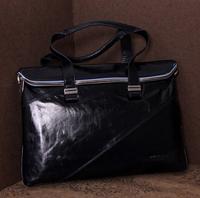 Handbags 2014 wax genuine leather male bag quality casual business man brand bag cowhide designer handbags high quality