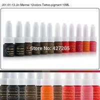 Golden Rose Professional Permanent Makeup Tattoo Ink 10ML 12 Colors Eyebrow Lip Makeup Pigment Tattoo Supplies