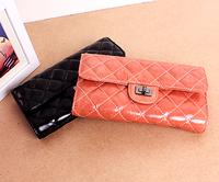 Wax genuine leather wallet clutch women clutch card holder first layer of cowhide women wallets