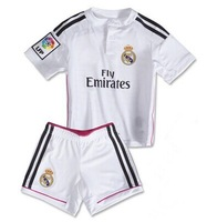 3A + + + Thai quality 2014 Real Madrid Pink JERSEY soccer KIDS Real Madrid AWAY home 14 15 Children RONALDO BALE Ramos benzema