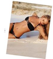 Free shipping New Women's Sexy black Bikini Push-up Padded Bra Bathing Suit Swimsuit Swimwear S M L