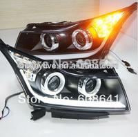 For CHEVROLET Cruze LED Head Lamp Angel Eyes Bi xenon projector lens