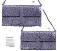 Clutch Shoulder Handle Women handbag Ostrich Grain Clutch Chain Purse Lady Handbag Hot Products