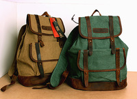 New 2014 Casual Women's Canvas Backpacks Girl Lady Student School Travel Bags Leather Big Women Travel Bags