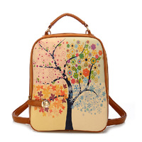 In 4 Color 2014 New Casual Leather Student Printing Women Backpacks Brand Female School & Outdoor Fun & Sports Bags For Girls