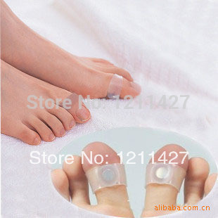 7pair Slimming Health Silicon Magnetic Foot Massager Massge relax Toe Ring for Weight Loss Relaxation Care(China (Mainland))