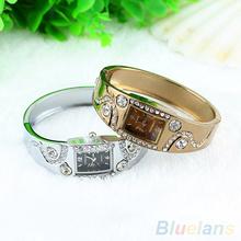 2014 New Hot Fashion Women Bracelet Bangle Wave Rhinestone Crystal Wrist Watches 05AT